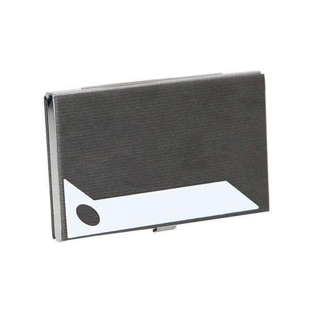 Business Card Credit Card Holder Black Slide