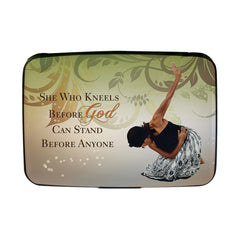 Card Holder She Who Kneels