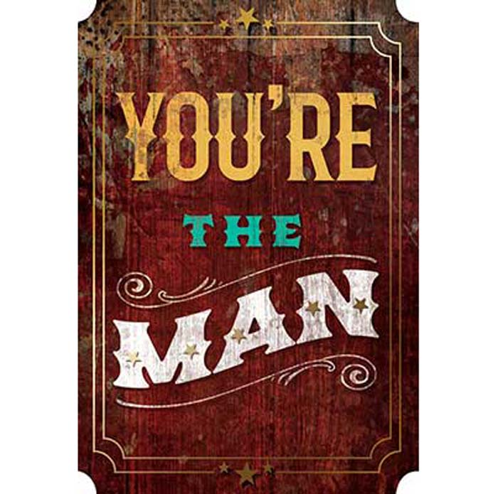 Father's Day Card: You're the Man Happy Father's Day