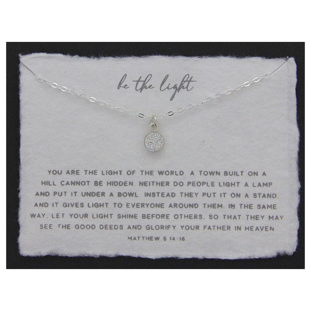 Be the Light Necklace Sterling Silver