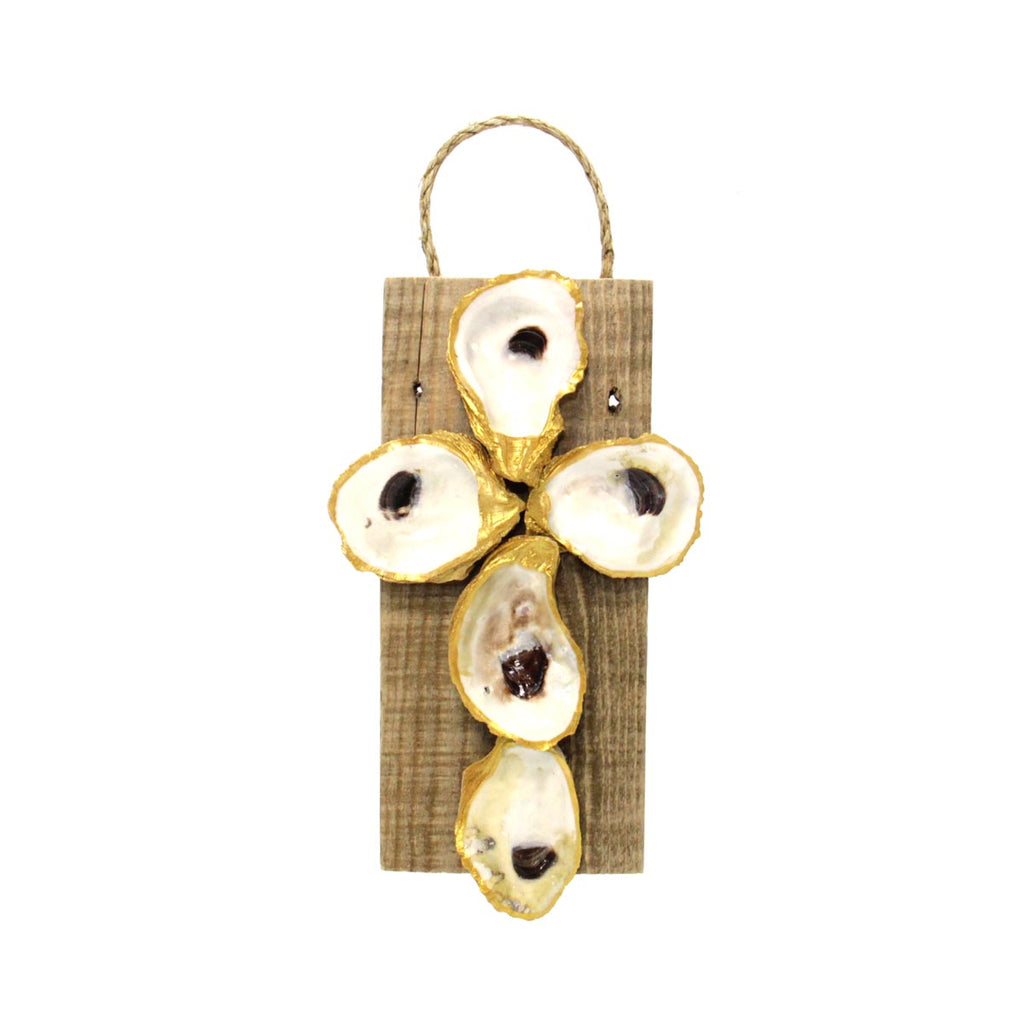 Oyster Shell Cross Small