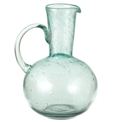 Recycled Bubbled Glass Pitcher