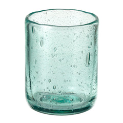 Short Recycled Bubble Drinking Glass