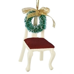Empty Chair w/Wreath Memorial Ornament
