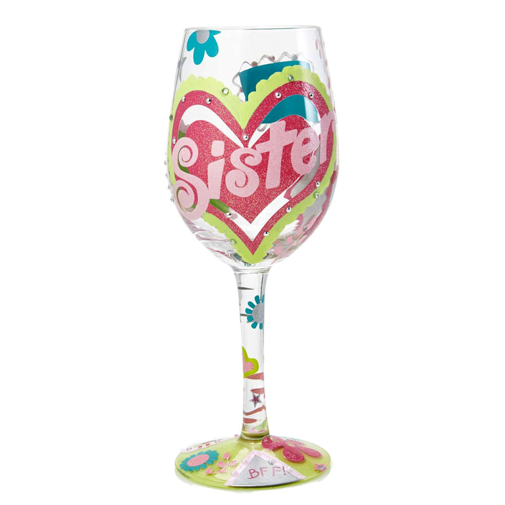 Lolita Sister BFF Wine Glass