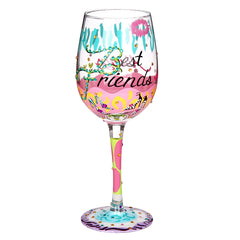 Lolita Best Friends Always Wine Glass