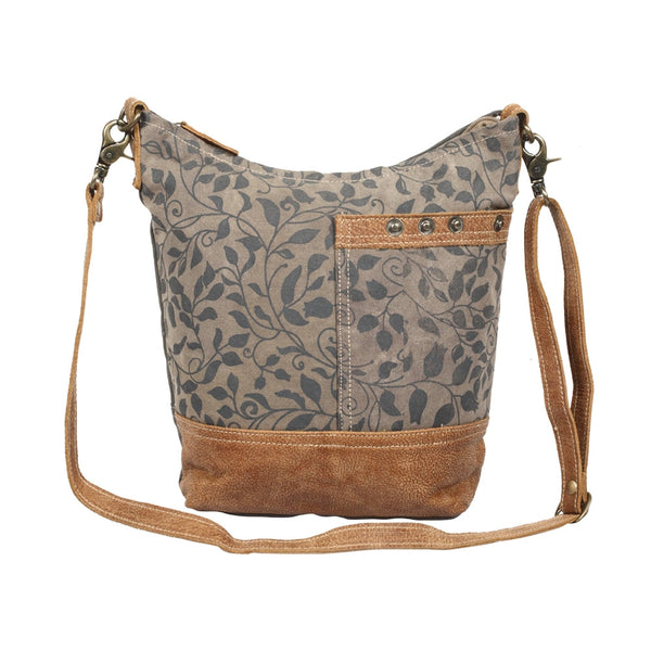 Aloe Print Shoulder Bag