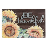 Sunflower Wall Plaque - BE THANKFUL