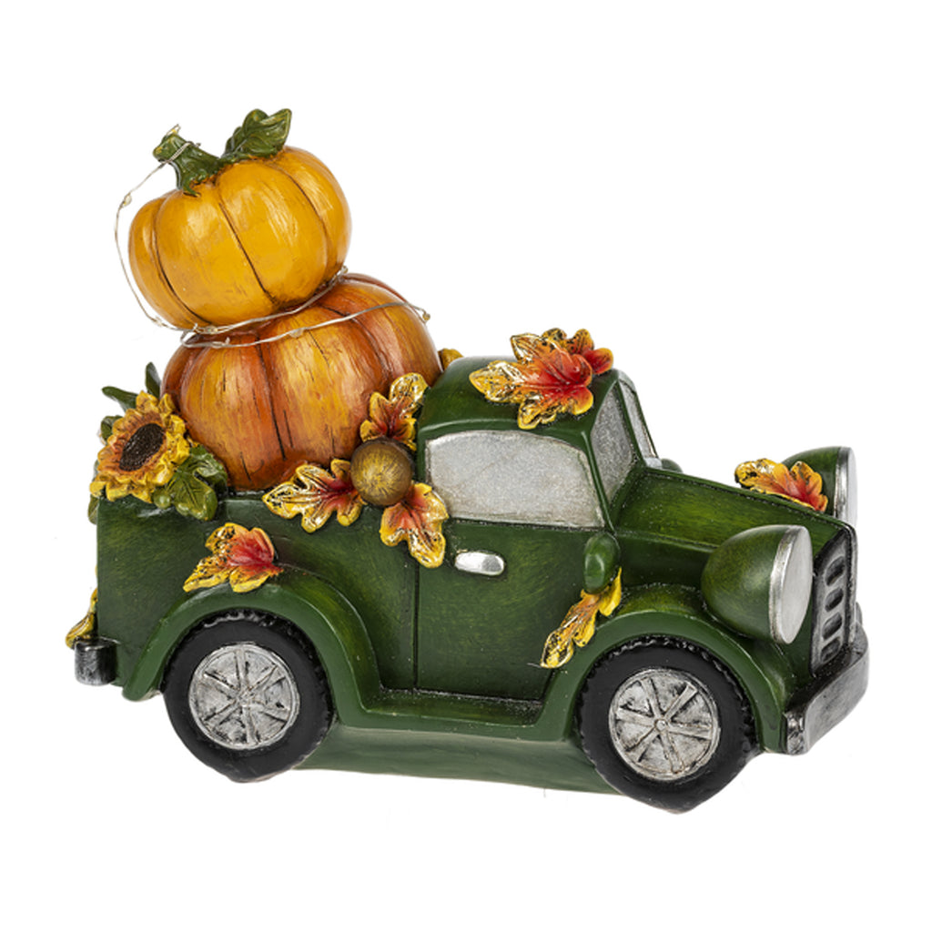 Light Up Truck with Pumpkin Figurine