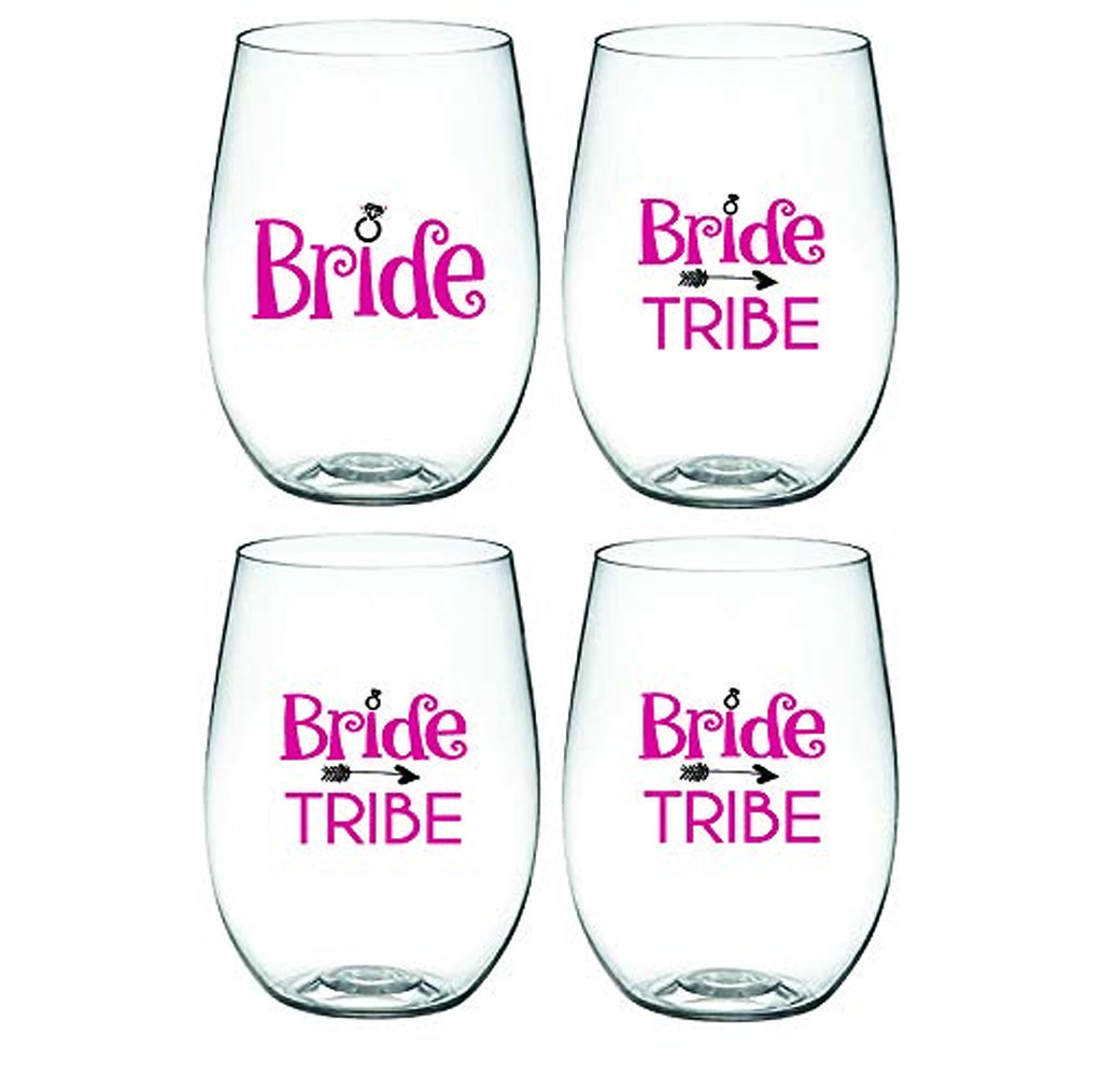 BRIDE AND BRIDE TRIBE – 'Wine-Oh!' Shatterproof Designer Wine Glasses