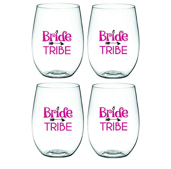 BRIDE TRIBE – 'Wine-Oh!' Shatterproof Designer Wine Glasses
