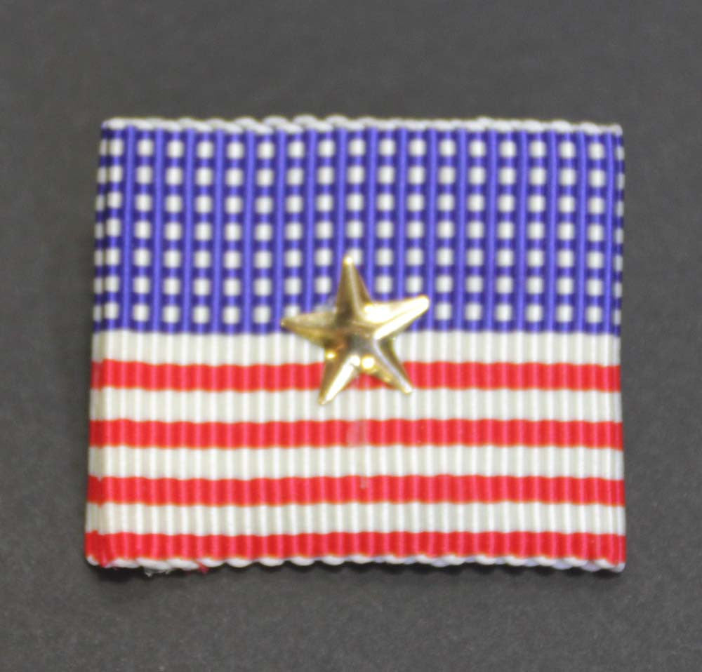 American Flag Pin Ribbon Square