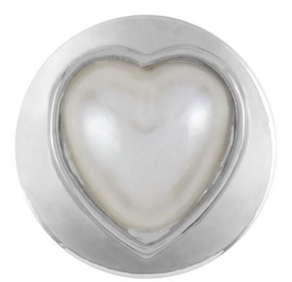 Petite Ginger Snaps Pearl Heart Snap