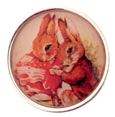 2 Bunnies Snap Button