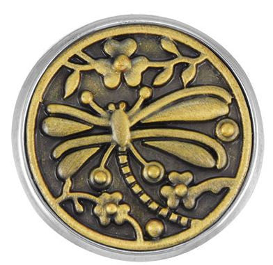 Ginger Snaps Dragonfly Garden Snap-Brass