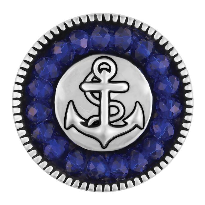 Ginger Snaps Blue Faceted Anchor Snap