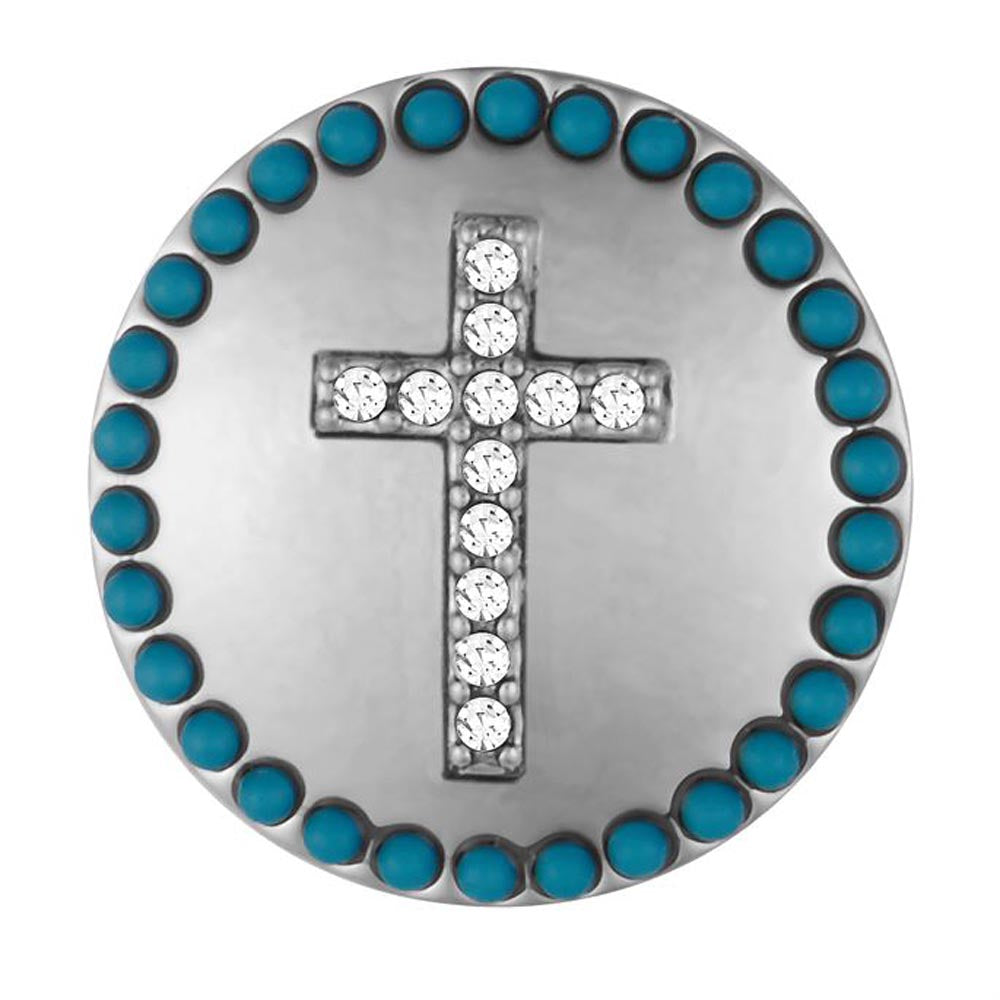 Ginger Snaps Turquoise Surround Cross Snap
