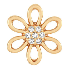 Petite Ginger Snaps Gold Cut Out Petals Snap