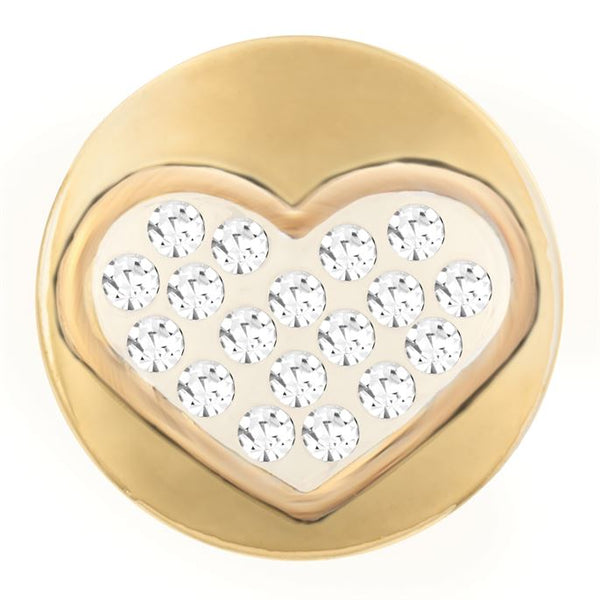 Petite Ginger Snaps Gold Heart of Stones Snap