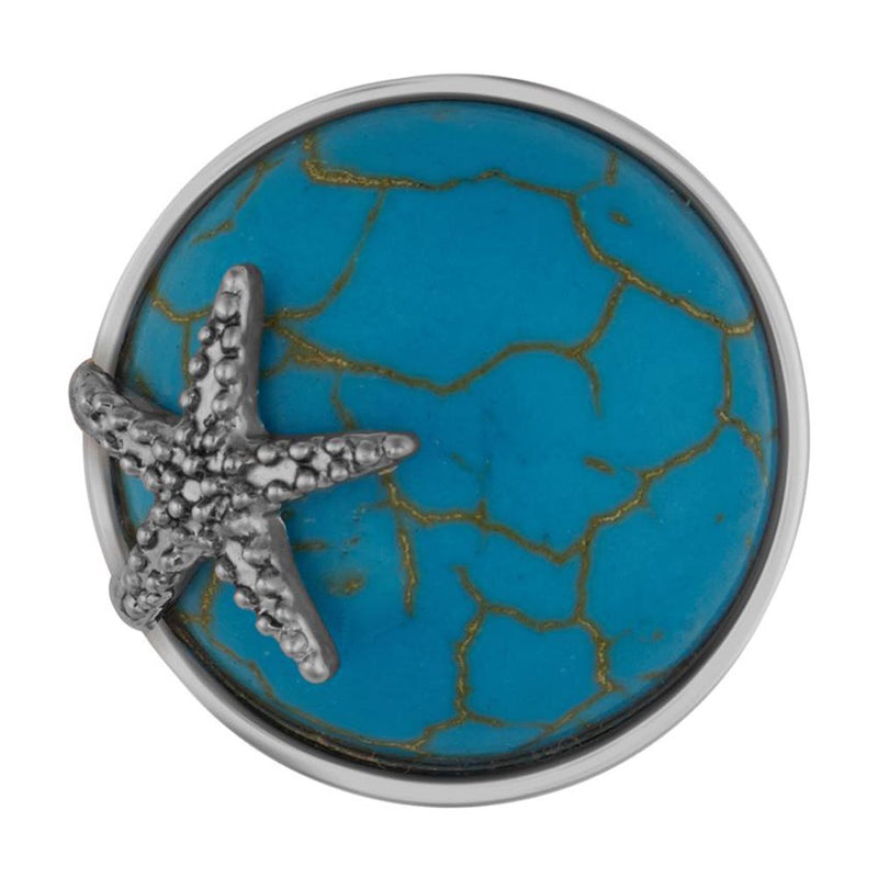 Ginger Snaps Starfish Turquoise Snap