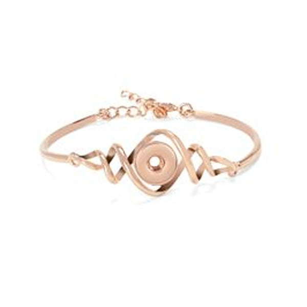 Ginger Snaps Twister Bracelet, Rose Gold