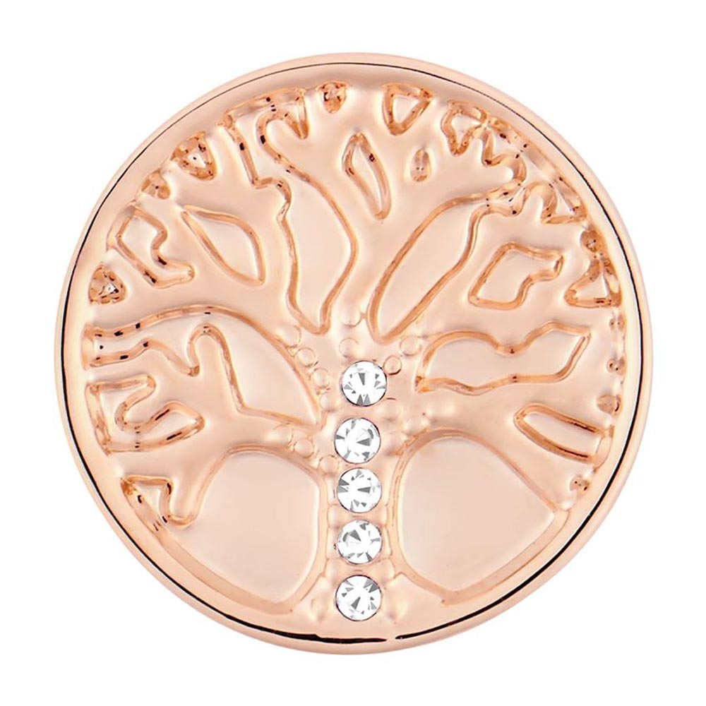 Ginger Snaps Family Tree Stone Rose Gold Snap