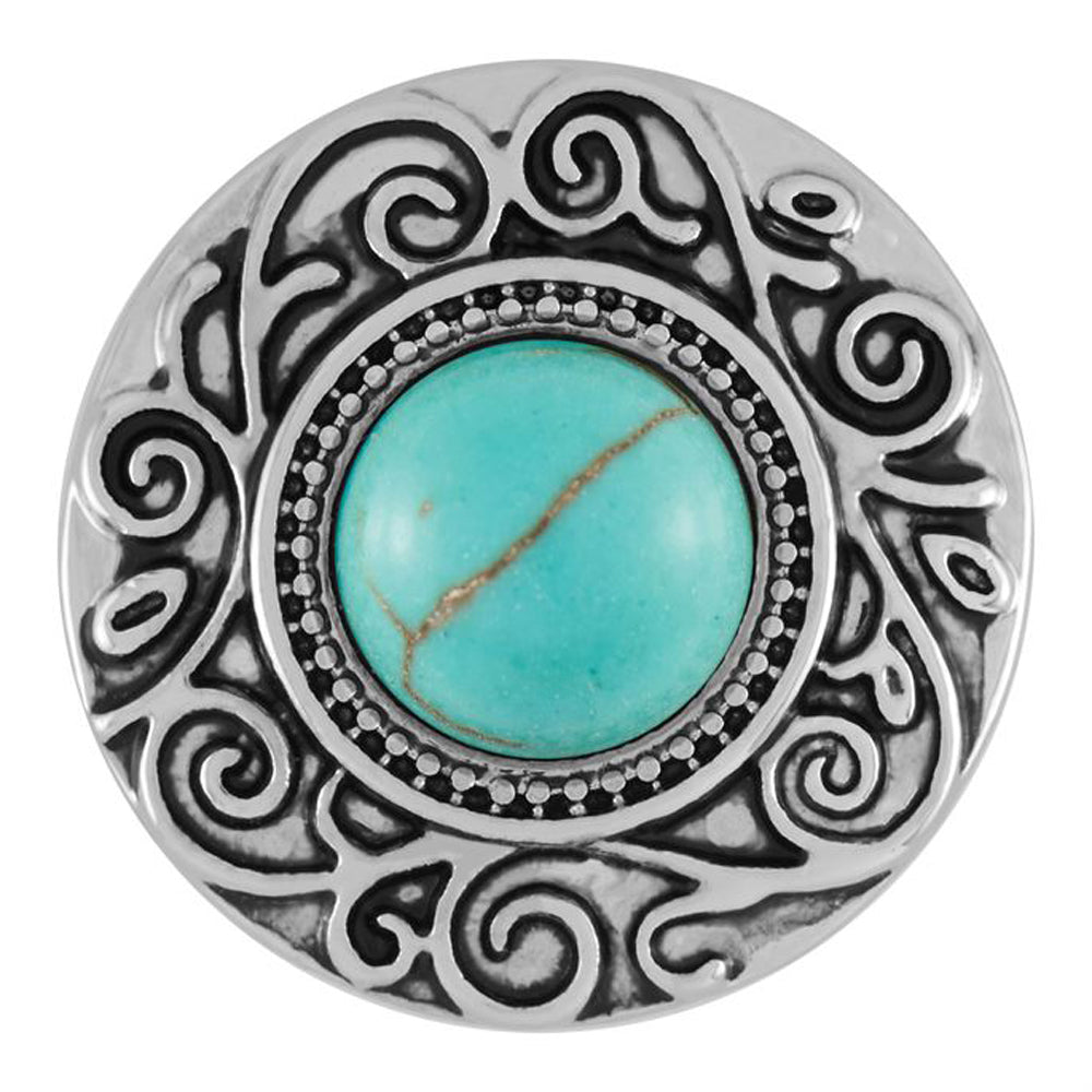 Ginger Snaps Scroll Turquoise Snap