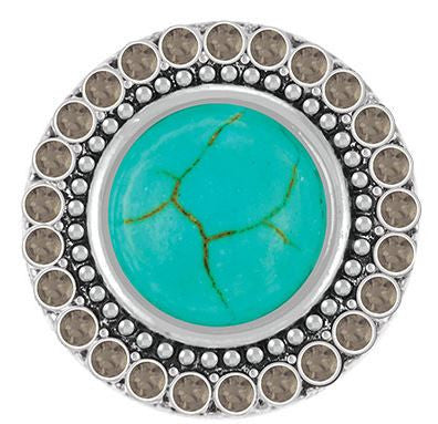 Ginger Snaps Turquoise Black Crystals