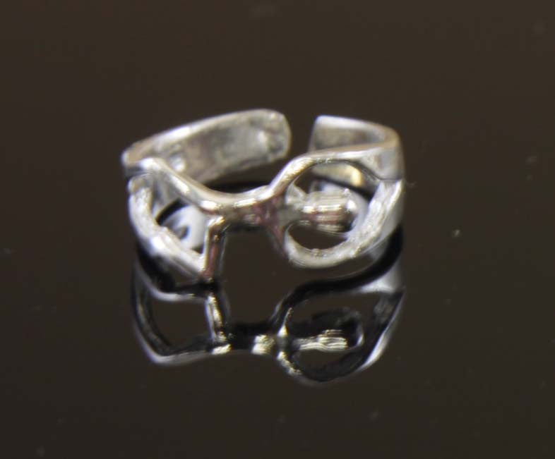 Sterling Silver Sideways Person Toe Ring