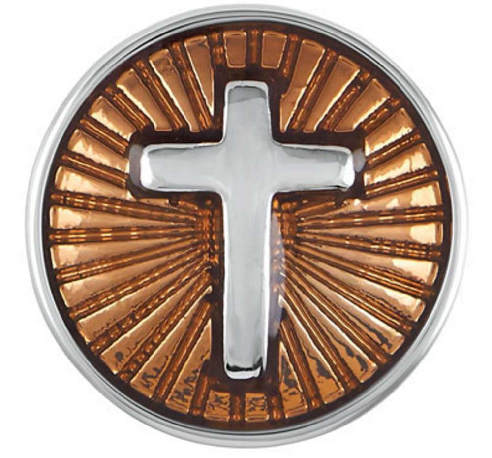 Petite Ginger Snaps Enamel Brown Cross Snap