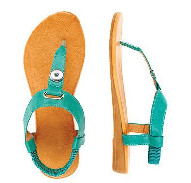Ginger Snaps Sanibel 1 Snap Sandals Turquoise Dream Sz10