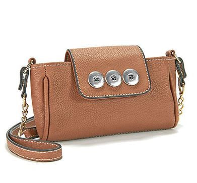 Ginger Snaps Mini Cross Body Cell Organizer Brown