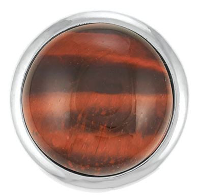 Ginger Snaps Red Tiger's Eye Snap