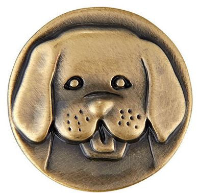 Ginger Snap Brass Dog Head
