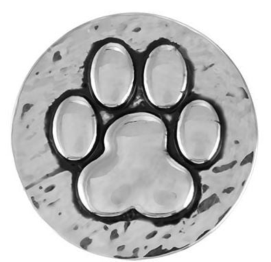 Ginger Snap Hammered Paw Print Snap