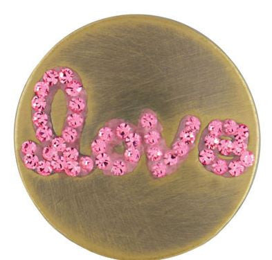 Sugar Snaps - Love Pink Antique Brass Snap