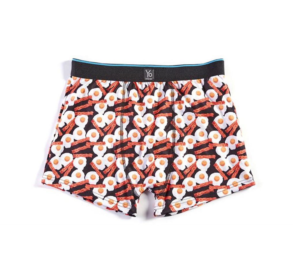 Yo Undies Trunks Bacon & Eggs Small 32""