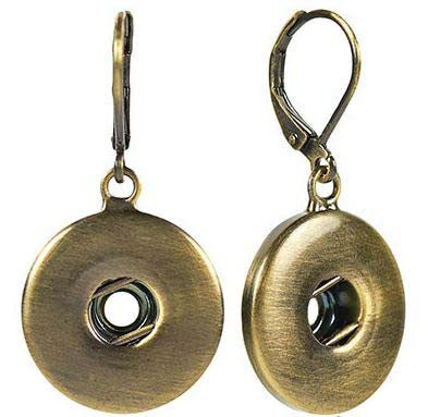 Ginger Snaps Earrings Antique Brass Leverback