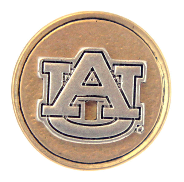 Button Auburn Tigers Snap Charms
