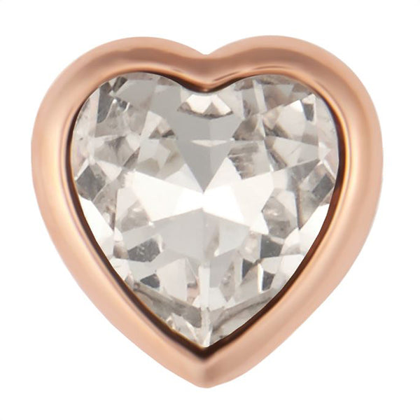 Petite Ginger Snaps Faceted Rose Gold Heart Snap
