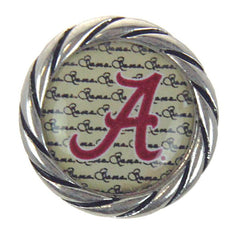 Alabama Crimson Tide Snap Charms Bama