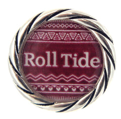 Alabama Crimson Tide Snap Charms Roll Tide