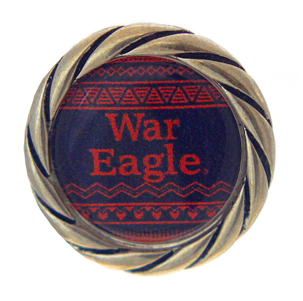 Button Auburn Tigers Snap Charms War Eagle