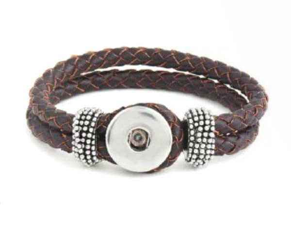 Ginger Snaps Bracelet Double Braided Brown