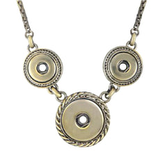 Combo Brass Necklace Petite & Ginger Snaps