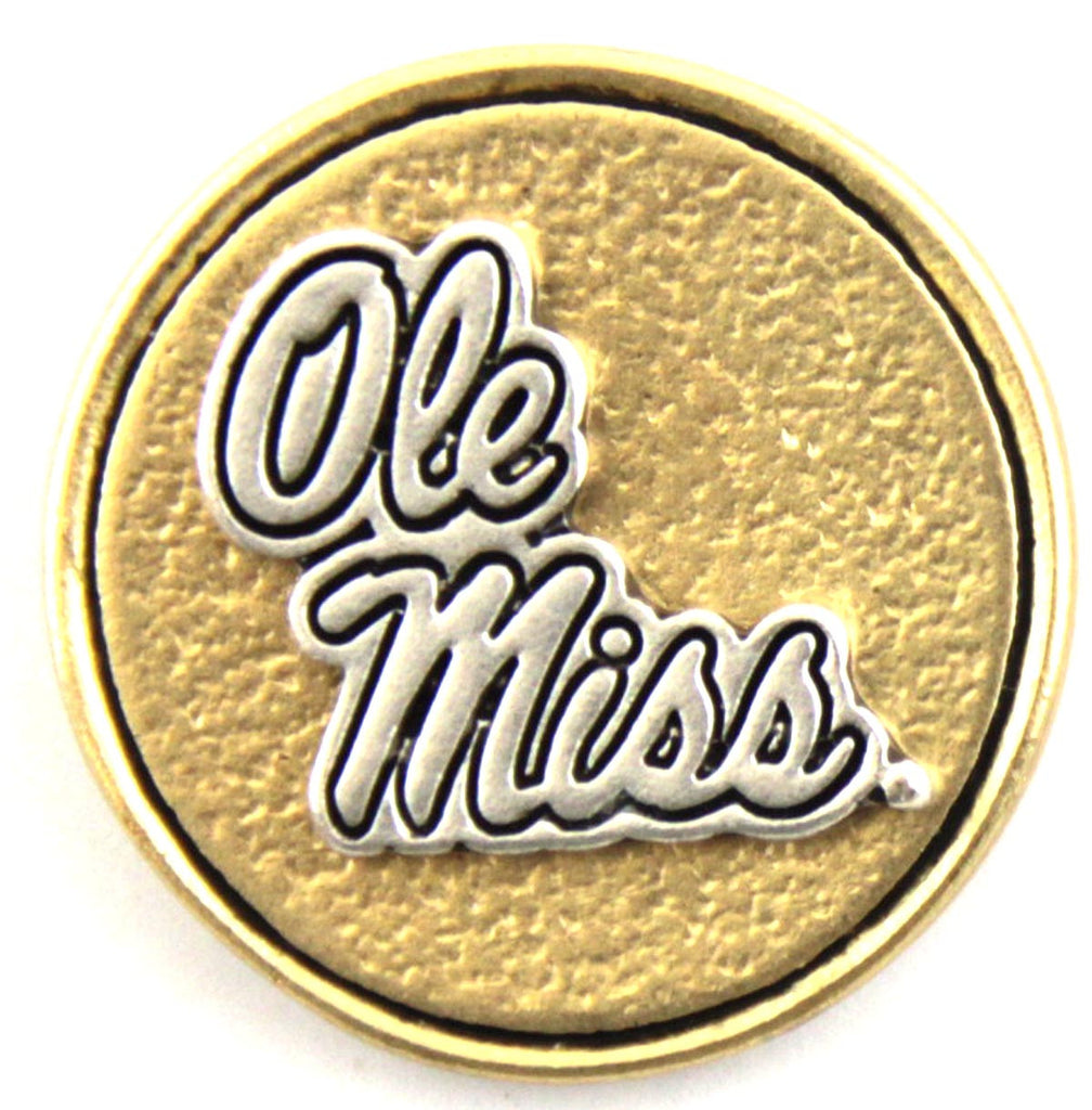 Ole Miss Snap Charms