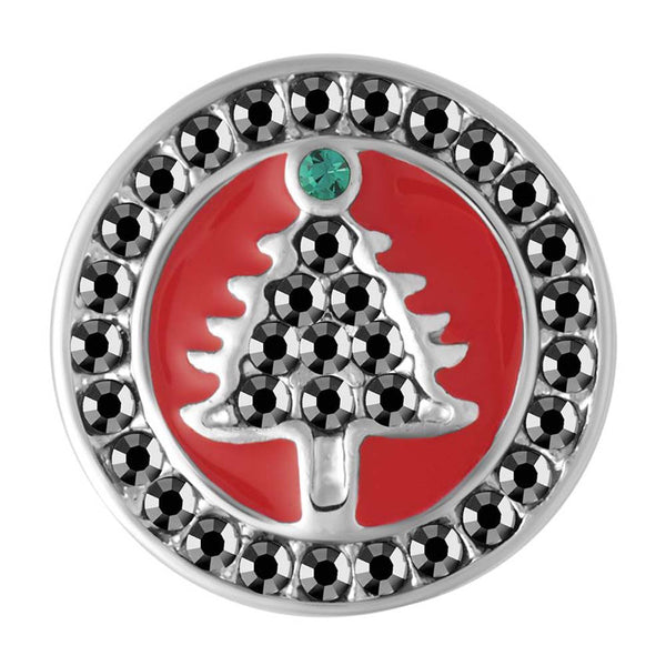 Petite Ginger Snaps Red Enamel Hematite Tree