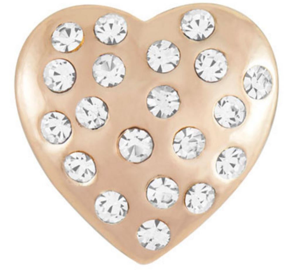 Petite Ginger Snaps Rose Gold Shaped Heart Snap
