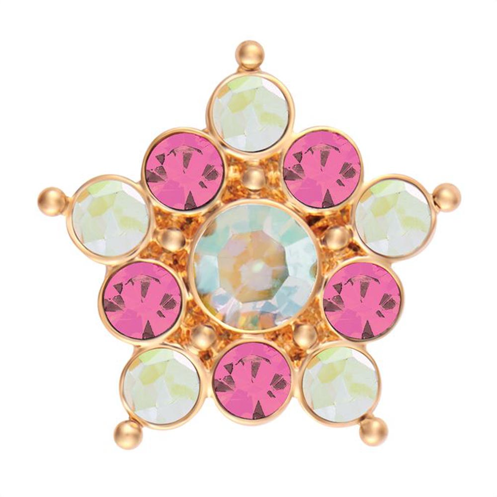 Ginger Snaps Luster-Gold Pink/Green Snap
