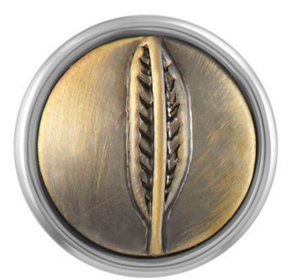 Petite Ginger Snaps Feather Brass Snap